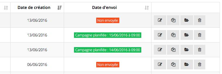 campagne planifié